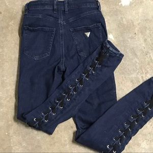 Guess 1981 Skinny High  Dark Jeans Size 25